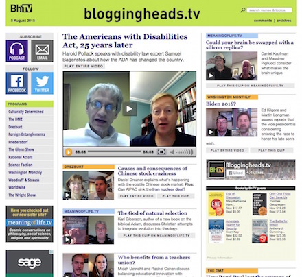 Bloggingheads.tv home page